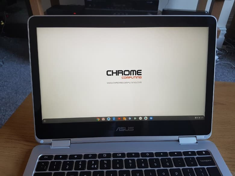 Hybrid Chromebook in laptop mode