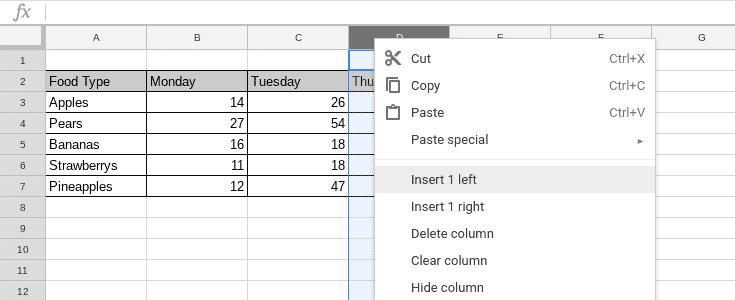 Google Sheets - Understanding the basics of spreadsheets