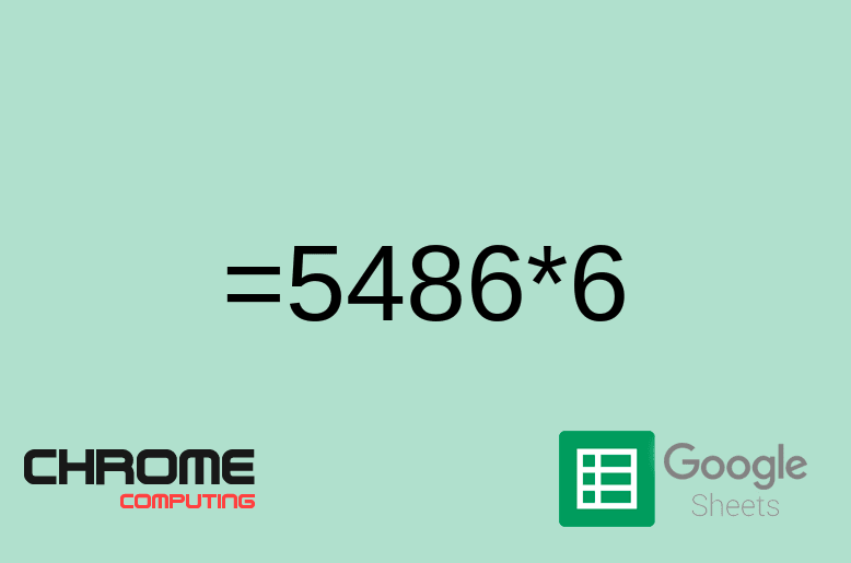 How to multiply numbers in Google Sheets