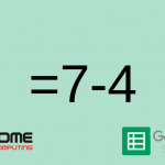 How to subtract numbers in Google Sheets