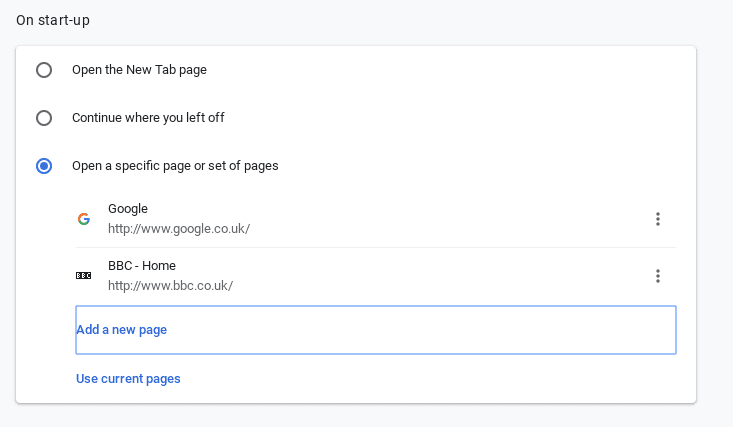 how to change your Chromebook startup settings