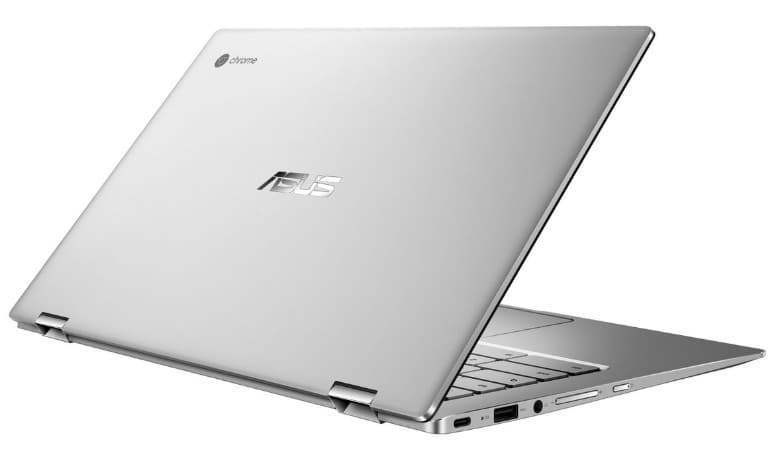 asus c434 chromebook review - aluminium body gives it a cool design