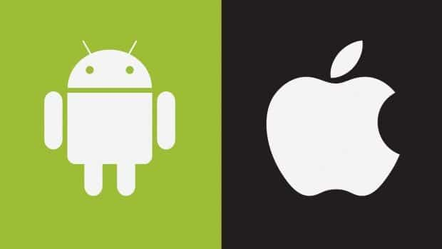 Android vs Apple phone