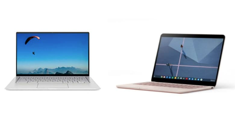 Asus C434 vs Pixelbook Go Chromebook comparison