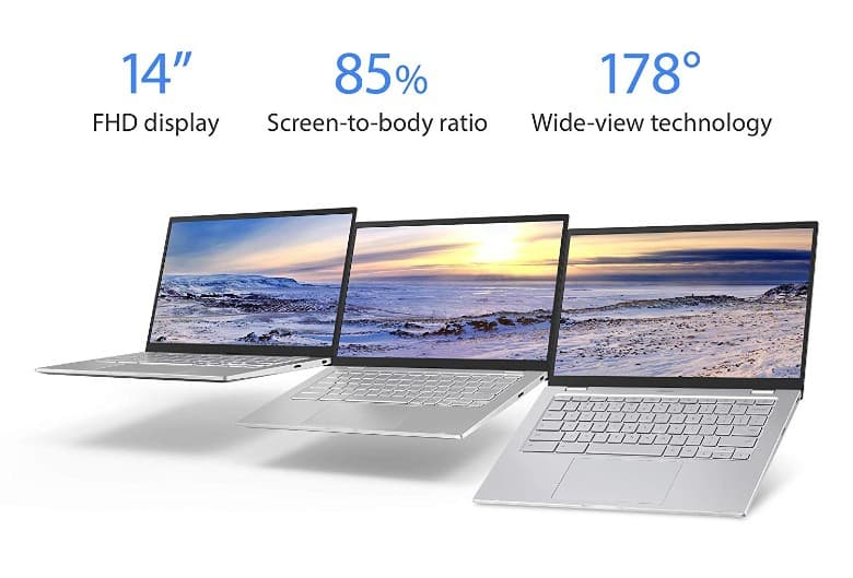 The Asus C425 comes with a great display resolution.