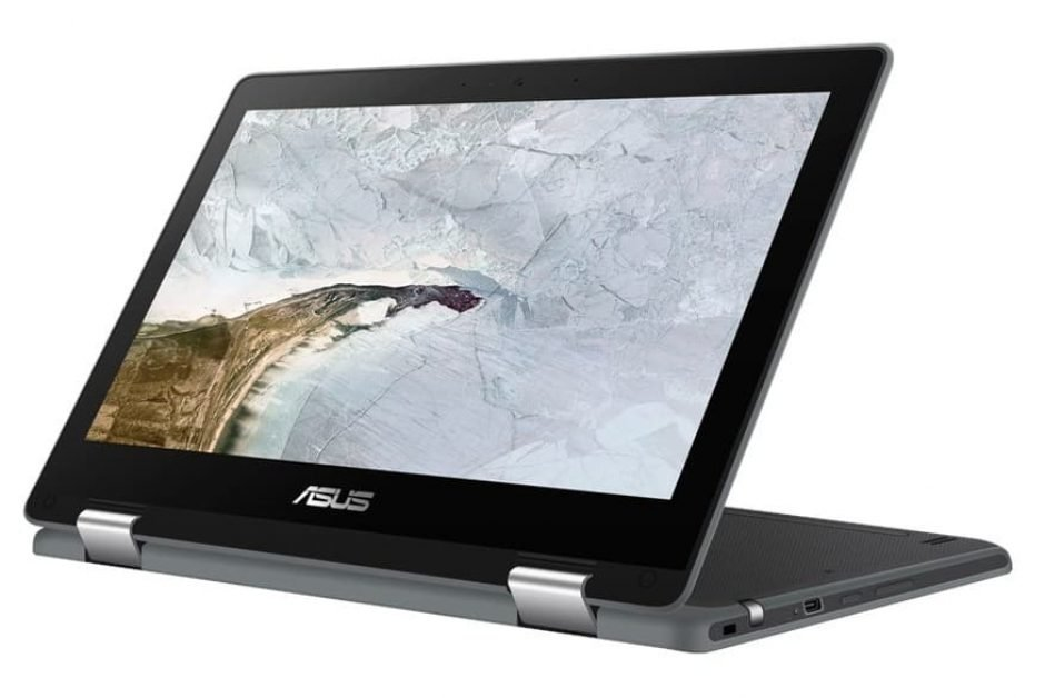 The Asus C214 Flip Chromebook can be used in tablet or laptop mode