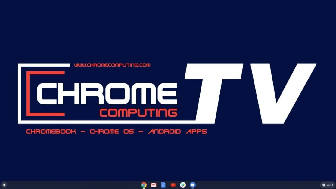 The Chromebook desktop