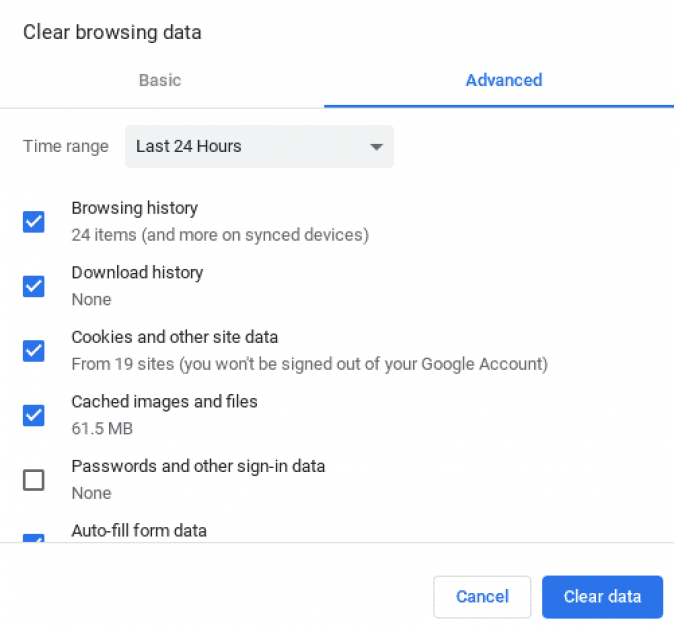 How to clear browsing data on your chromebook