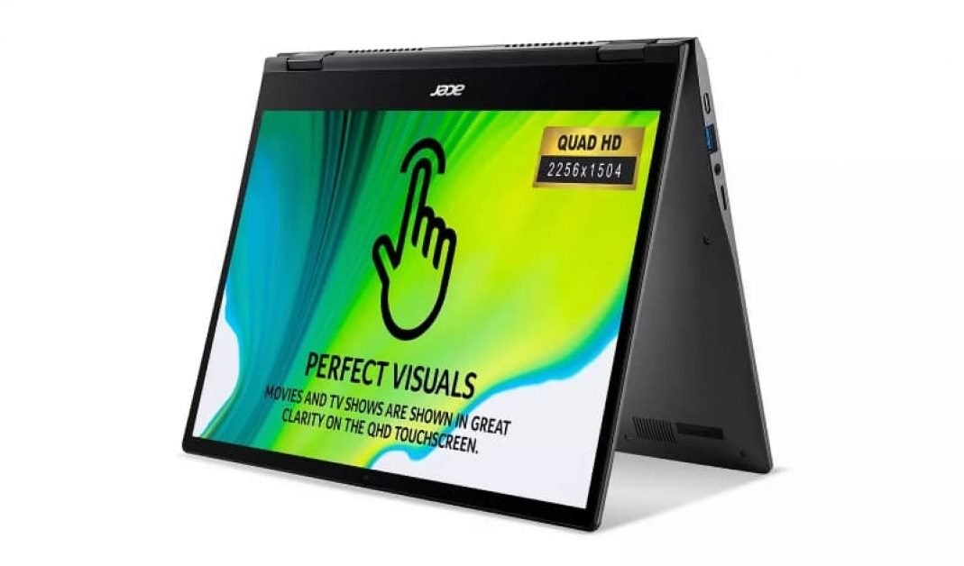 The Acer Spin 713 comes with a great resolution of 2256 by 1504