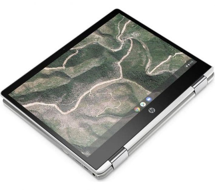 HP x 360 12b Chromebook can be used as a laptop or tablet