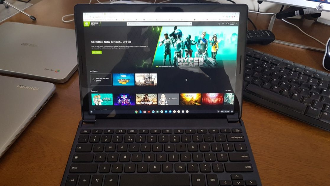 You can play PC games using GeForce Now on your Chromebook