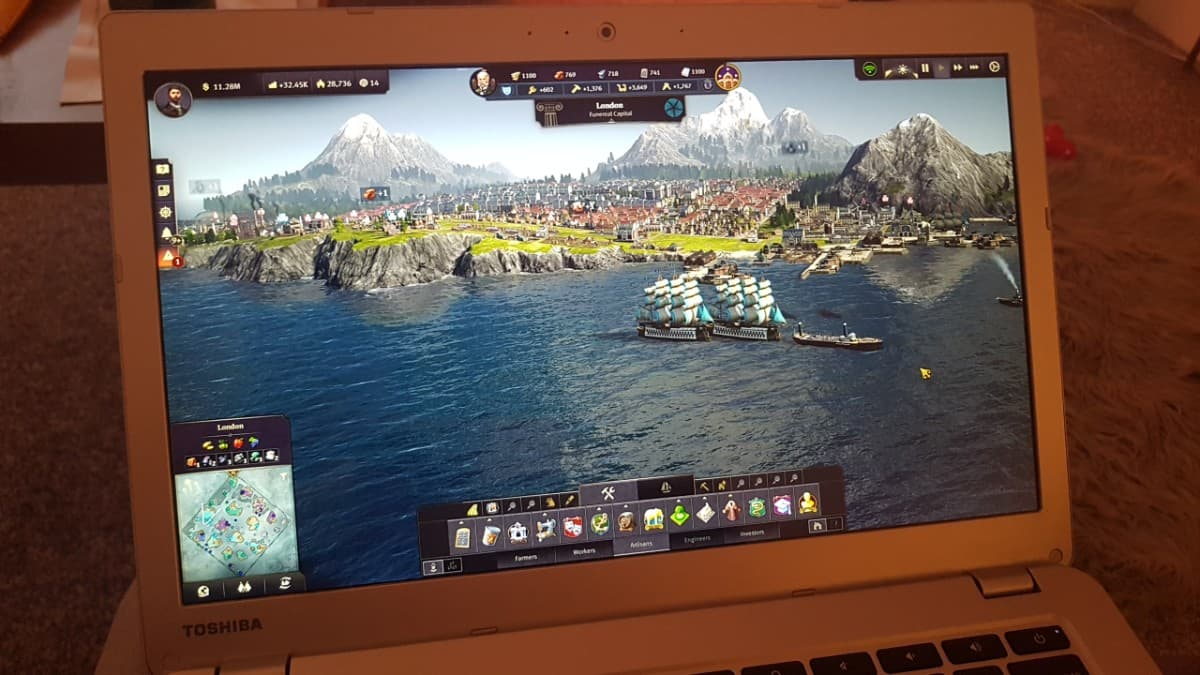 Play games like Anno 1800 on your Chromebook