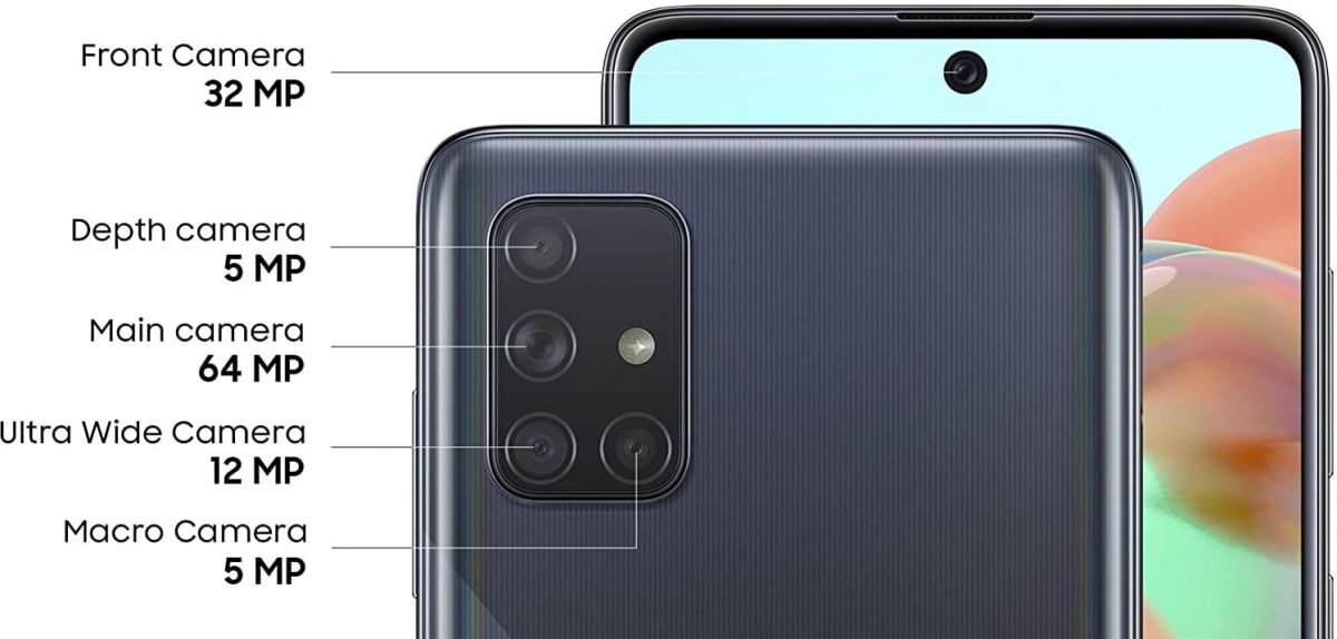 Galaxy A71 camera has four rear camera lenses for great photos