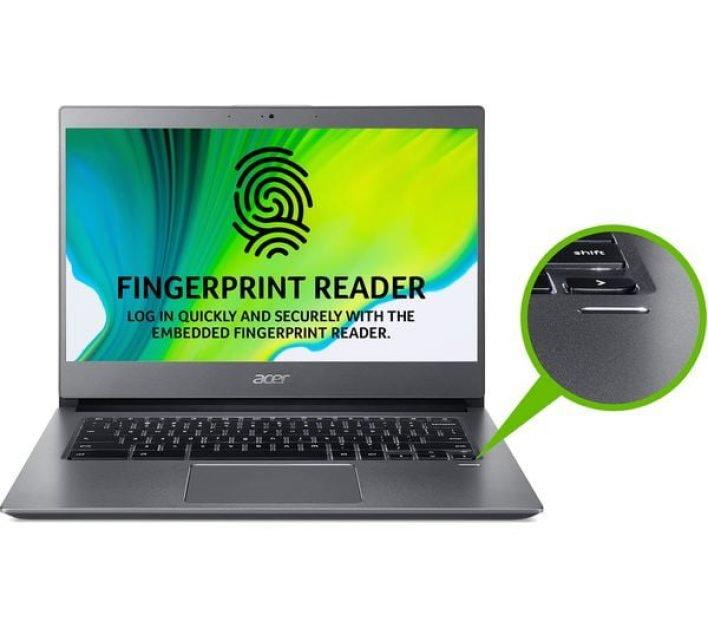 Acer 714 Chromebook fingerprint scanner