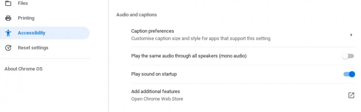Get your Chromebook to play a sound on startup