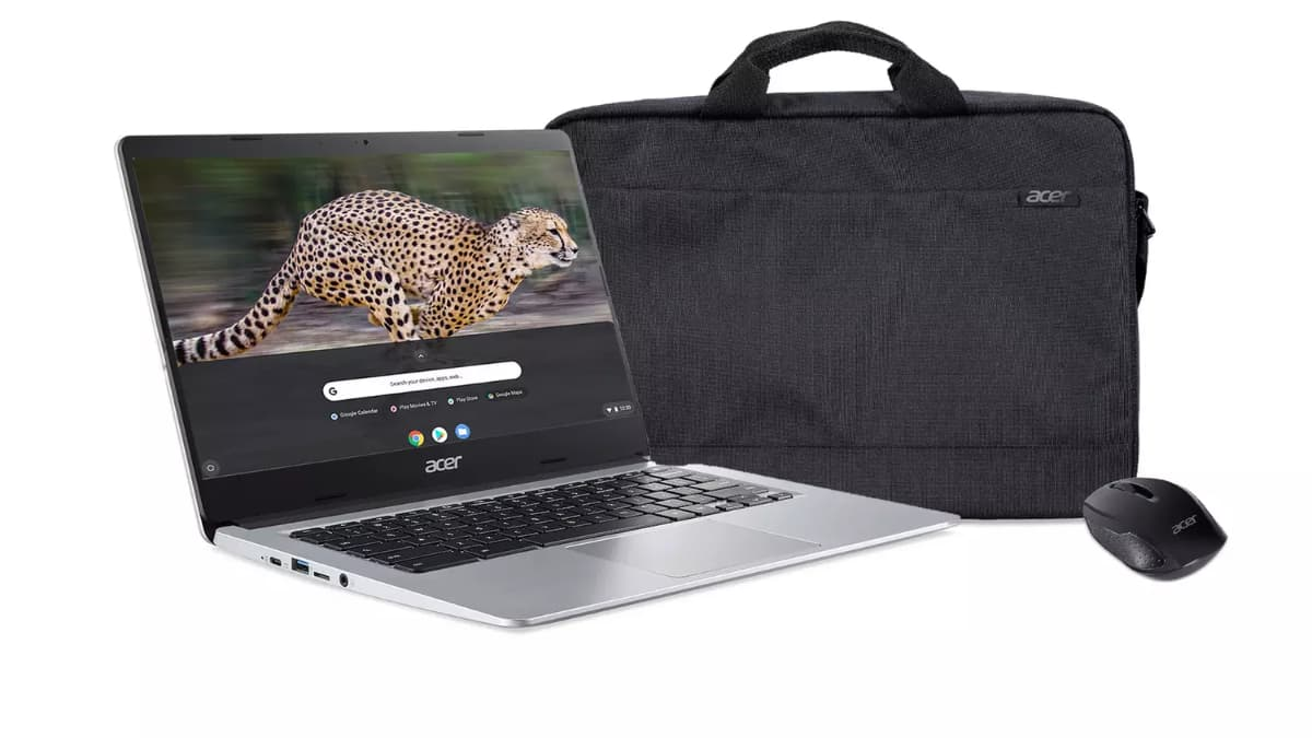 Acer 314 Chromebook with mouse and bag included for 259 uk pounds