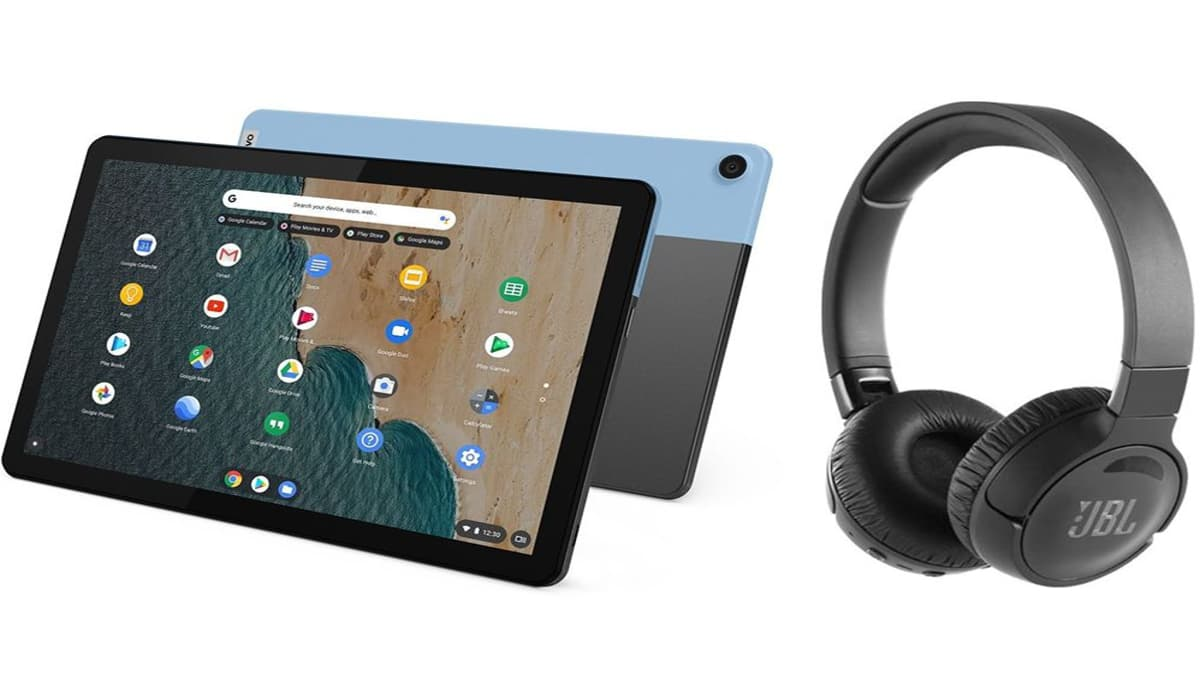 Lenovo Chromebook duet with free noise cancelling headphones