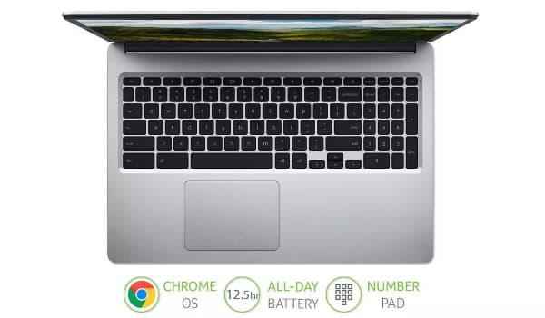 Acer CB315 has a numeric keypad