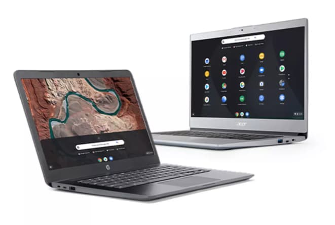 A wide selection of Chromebooks at Argos