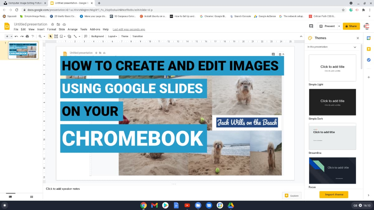 Create and edit images on your Chromebook using google slides