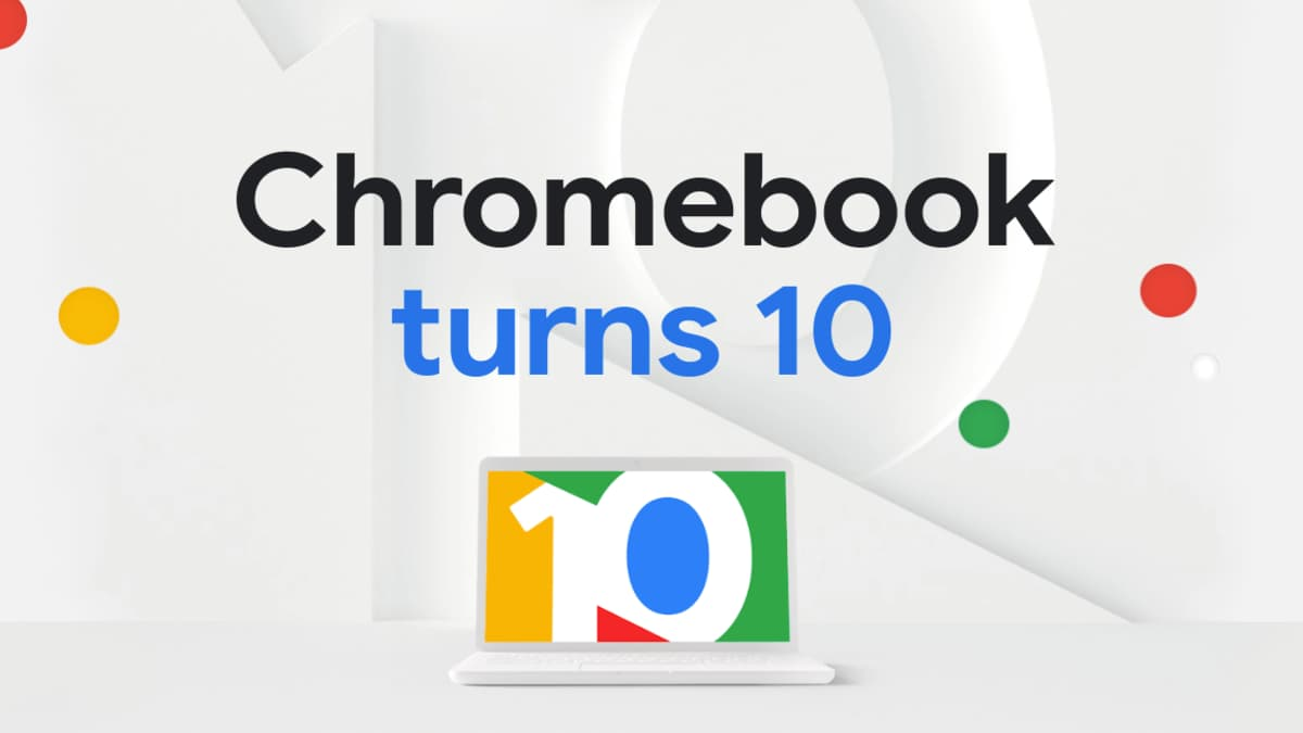 New Google page to celebrate the tenth birthday of the Chromebook