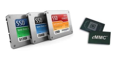 eMMC and SSD Chromebook storage
