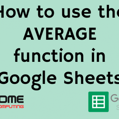 How to use the average function in Google Sheets